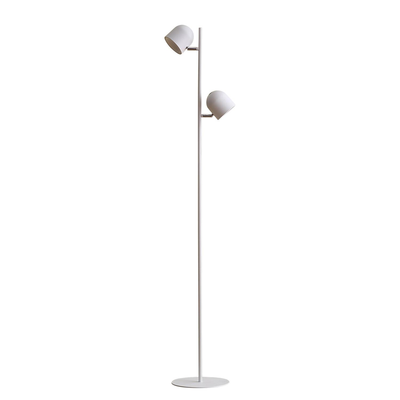 EEK A+, Lampadaire LED Jon - Fer - 2 ampoules - Blanc, Loistaa