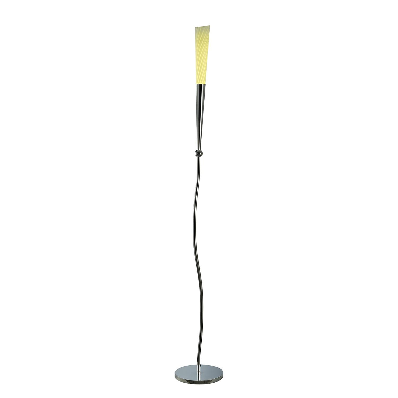 energie  A+, Staande LED-lamp - metaal/glas zilverkleurig, Näve