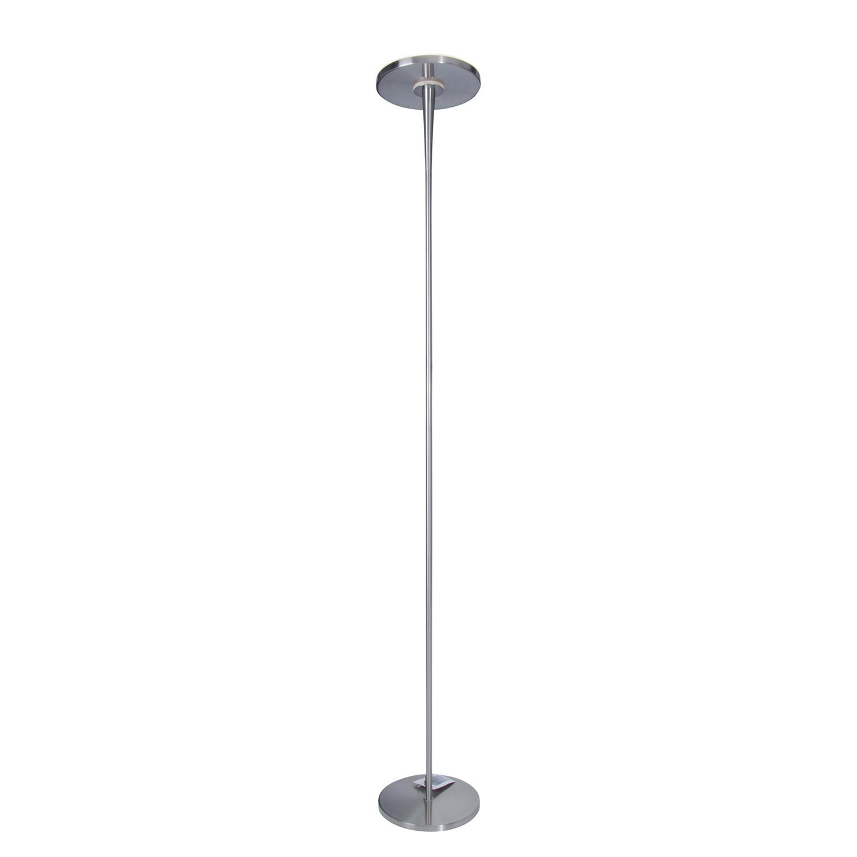 Staande LED-lamp - metaal zilverkleurig, Näve