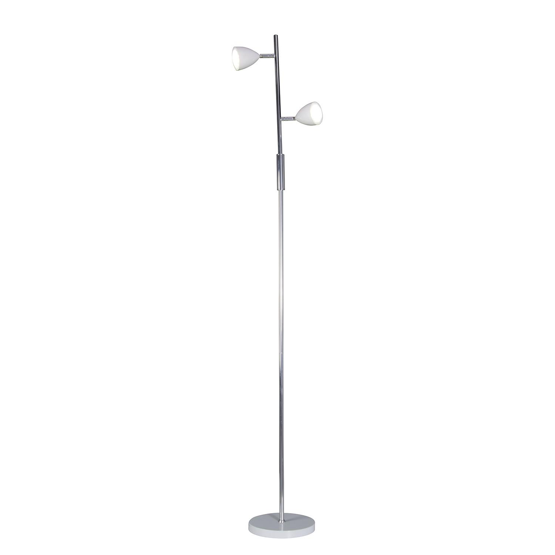 Staande LED-lamp Oskar - metaal wit, Näve