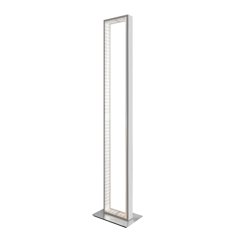 energie  A+, Staande LED-lamp Otti - zilverkleurig metaal satijn, Sompex