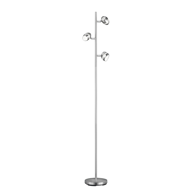 energie  A+, LED-staande lamp Shark - plexiglas/metaal - 3 lichtbronnen, Trio