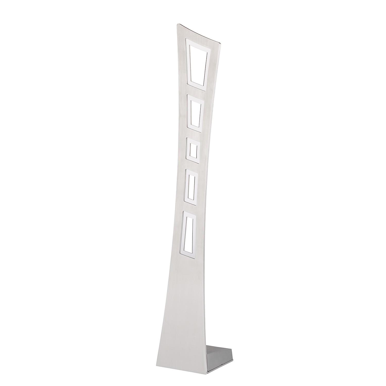 energie  A+, LED-tafellamp Eva - aluminium - zilverkleurig - 90 lichtbronnen, Lampadina