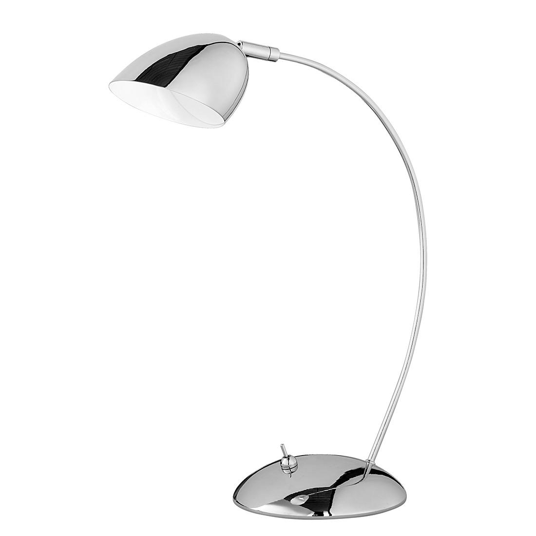 energie  A+, LED-tafellamp - chroomkleurig metaal 1 lichtbron, Trio