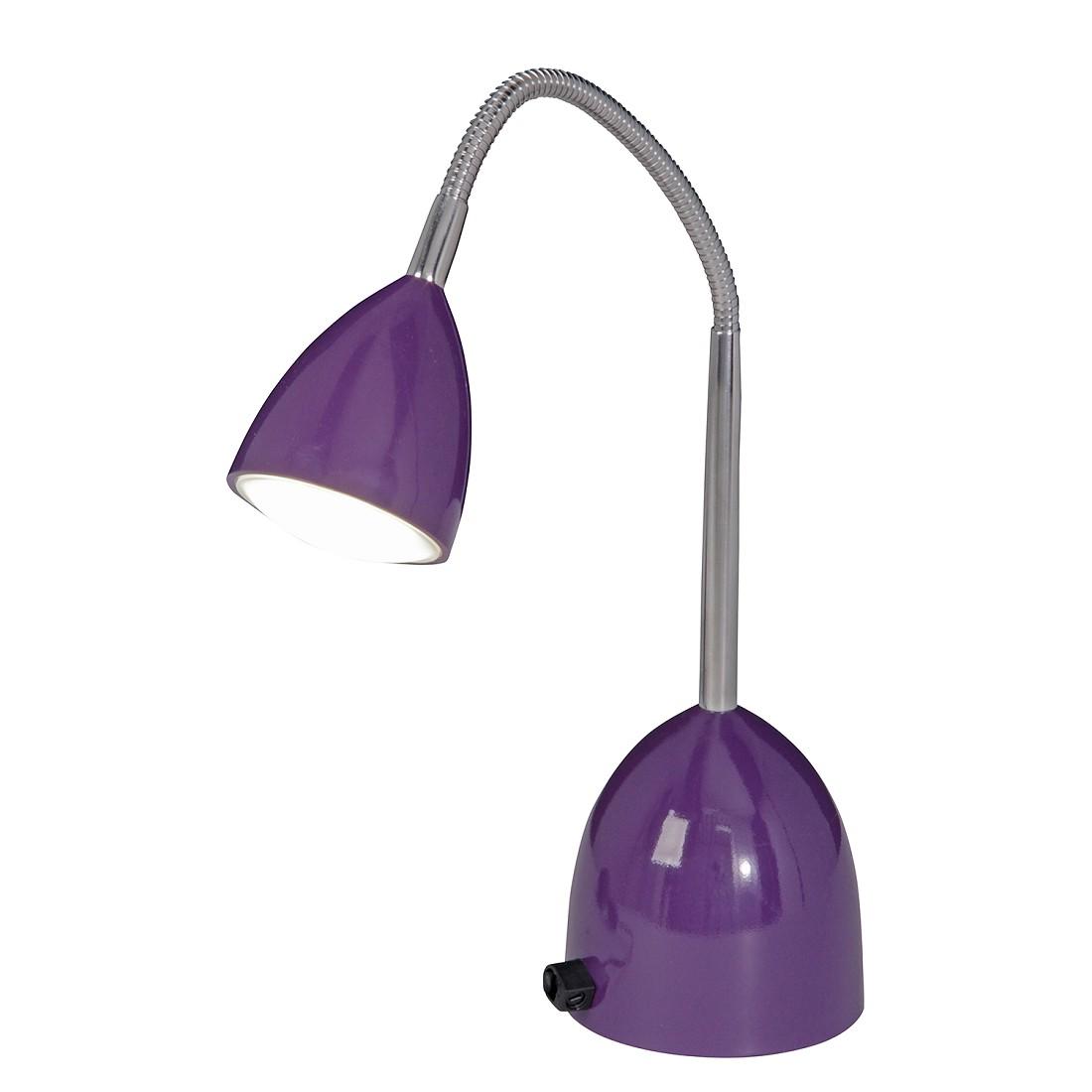 LED-tafellamp Oskar - metaal paars, Näve