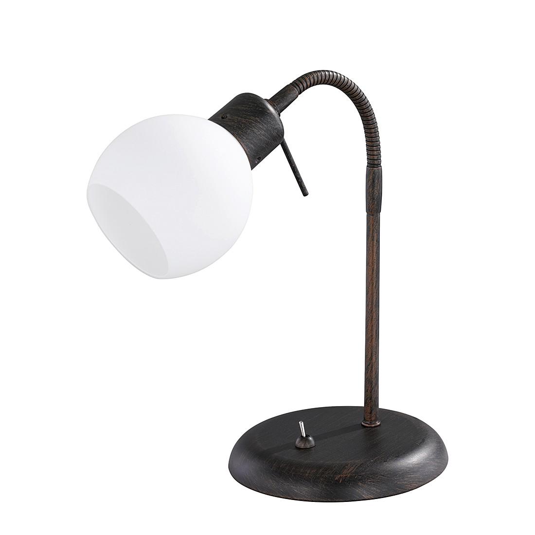 energie  A++, LED-tafellamp - antiek roestkleurig 1x4W, Trio
