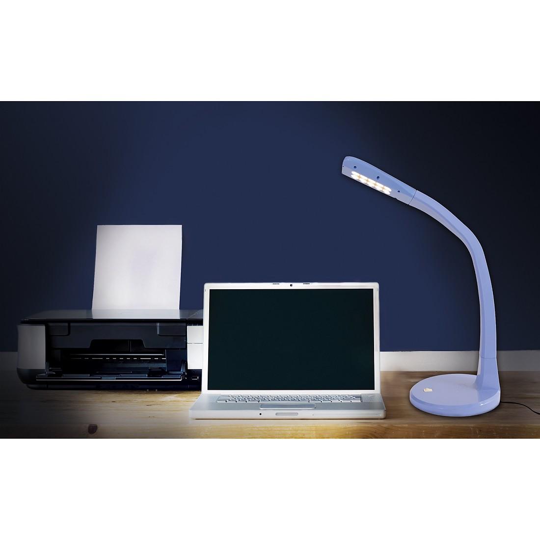 LED-tafellamp Stan - kunststof/siliconen blauw, Näve