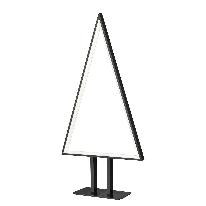energie  A+, LED-tafellamp Pine - aluminium - 1 lichtbron - Mat zwart, Sompex