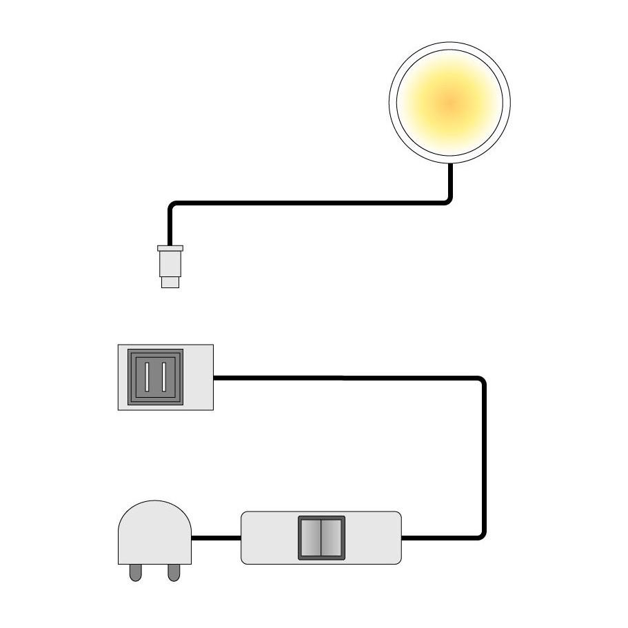 energie  A+, LED-onderbouwspot Floriano - Set van 1, mooved