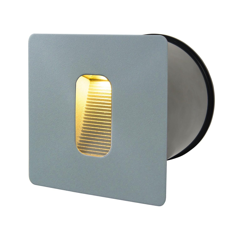 EEK A+, LED-Wandeinbaustrahler II 1-flammig - Silber Aluminium, Näve