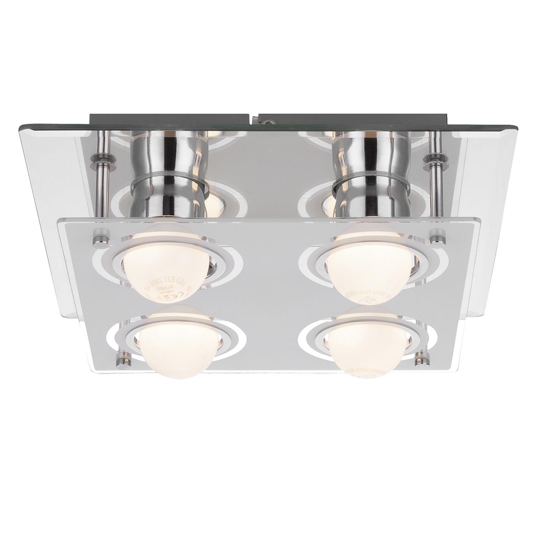 EEK A++, LED-Wandleuchte Blizzard - Metall / Glas - 4, Globo Ligh bei Home24 - Lampen