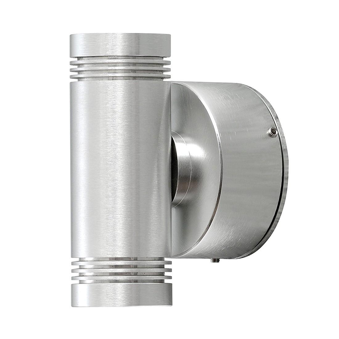 energie  A+, LED-wandlamp Monza Small - aluminium 2 lichtbronnen, Konstsmide