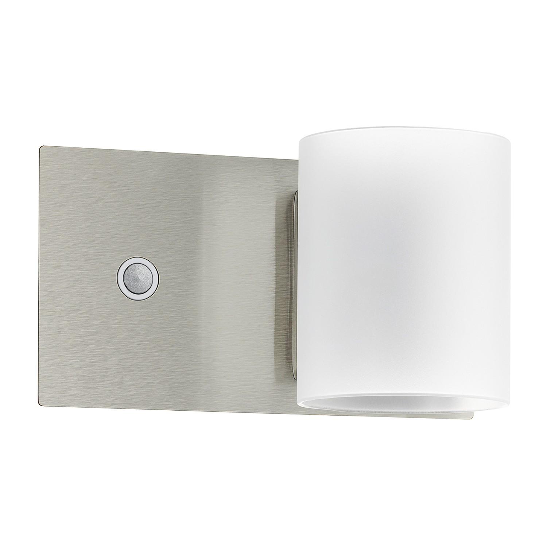 EEK A+, LED-Wandleuchte Pacao - Glas / Aluminium - 1-flammig - Aluminium / Weiß, Eglo