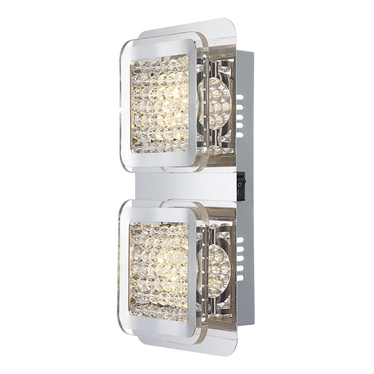 EEK A+, LED-Wandleuchte Schelli 2-flammig - Silber Metall, verchr bei Home24 - Lampen