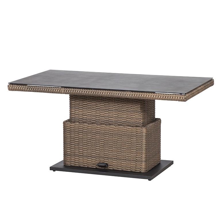 """Gartentisch """"Teramo I"""" aus Polyrattan, höhenverstellb., brasil (Kopie) Home24"""