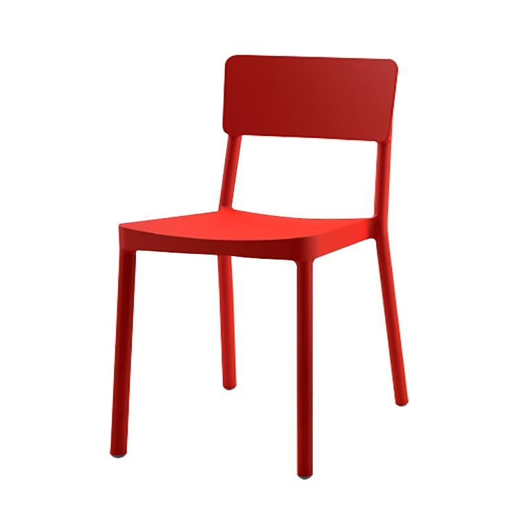 Esszimmerstuhl Lisboa (2er-Set) - Kunststoff - Rot, Viggo