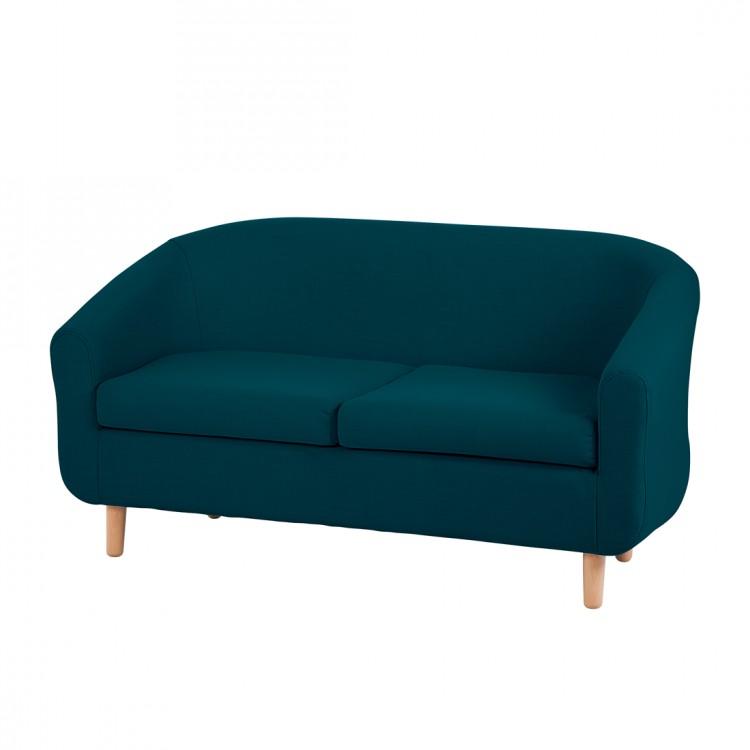 Canapé Little (2 places) - tissu bleu / vert, mooved