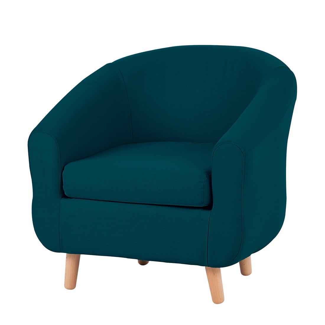 Fauteuil Little - Tissu bleu / vert, mooved