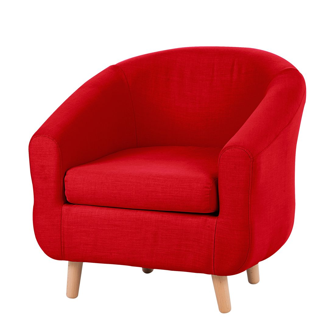 Fauteuil Little - Tissu rouge, mooved
