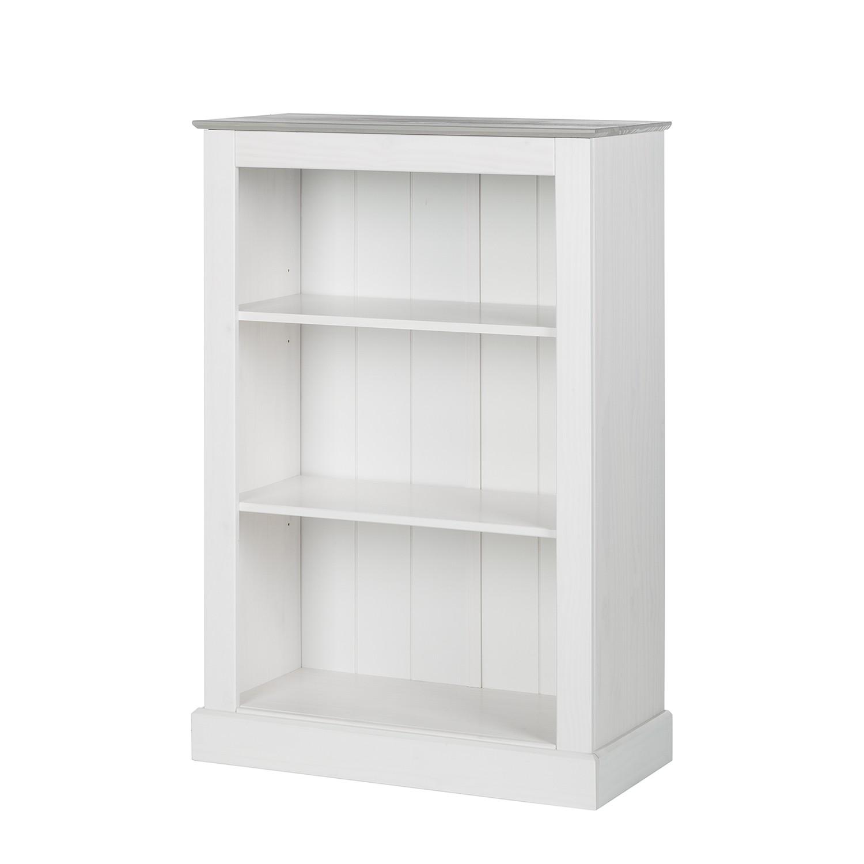Bibliothèque Neely II - Pin massif - Blanc / Gris, Maison Belfort