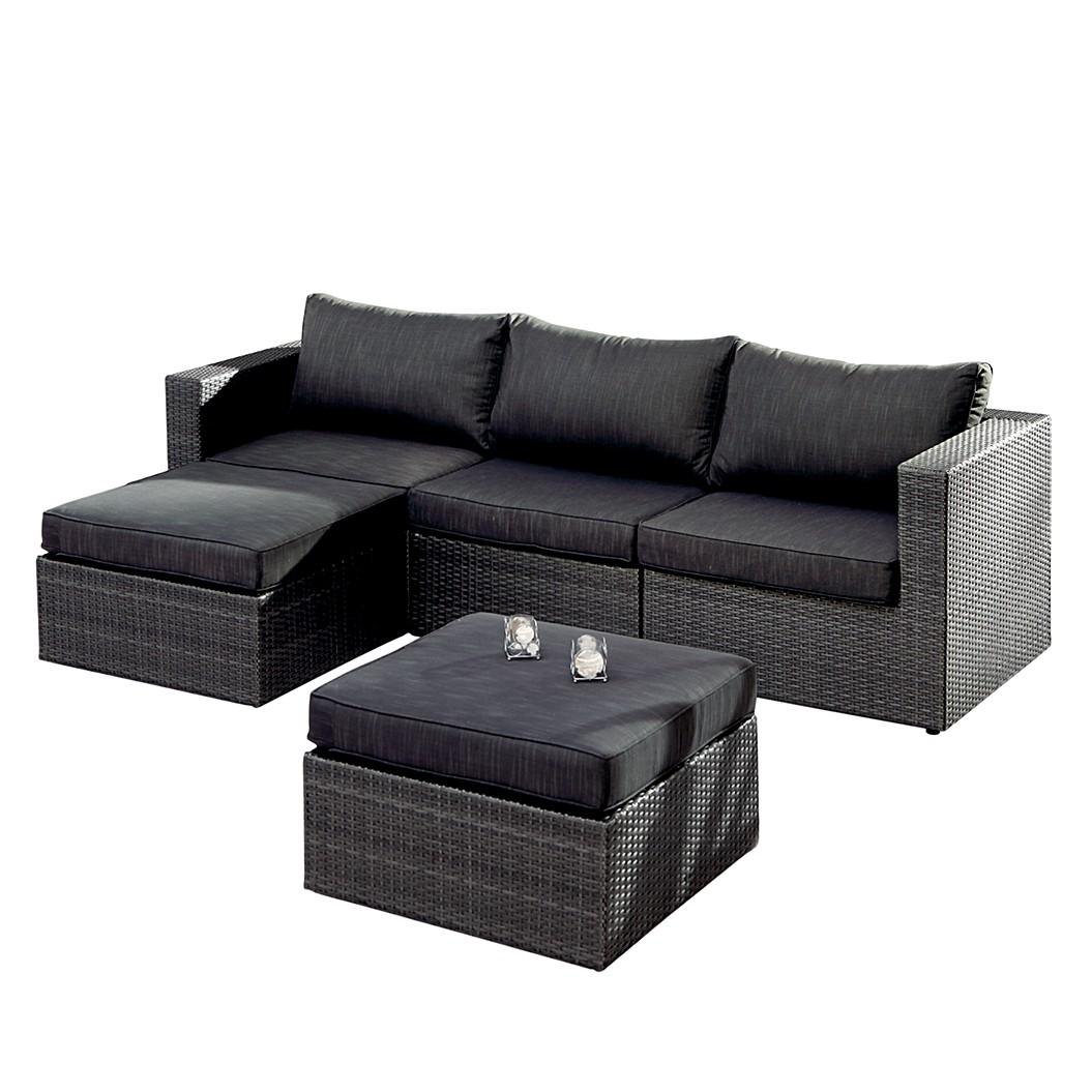 Lounge-Set Aruba - (5-teilig) - Aluminium / Kunstfaser - Anthrazit, Best Freizeitmöbel