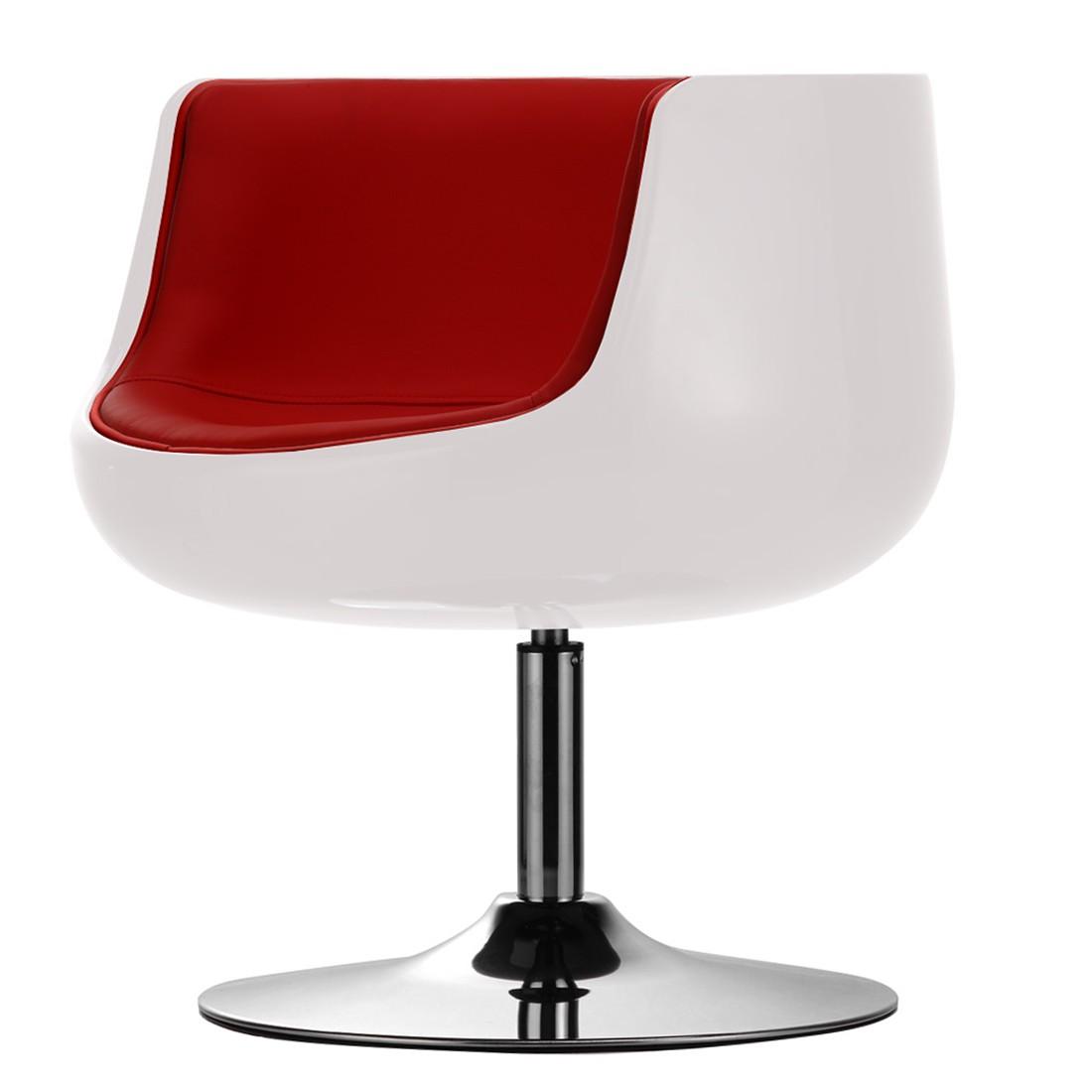 Sessel San Luis Kunstleder - Kunstleder Veli Weiß-Rot I