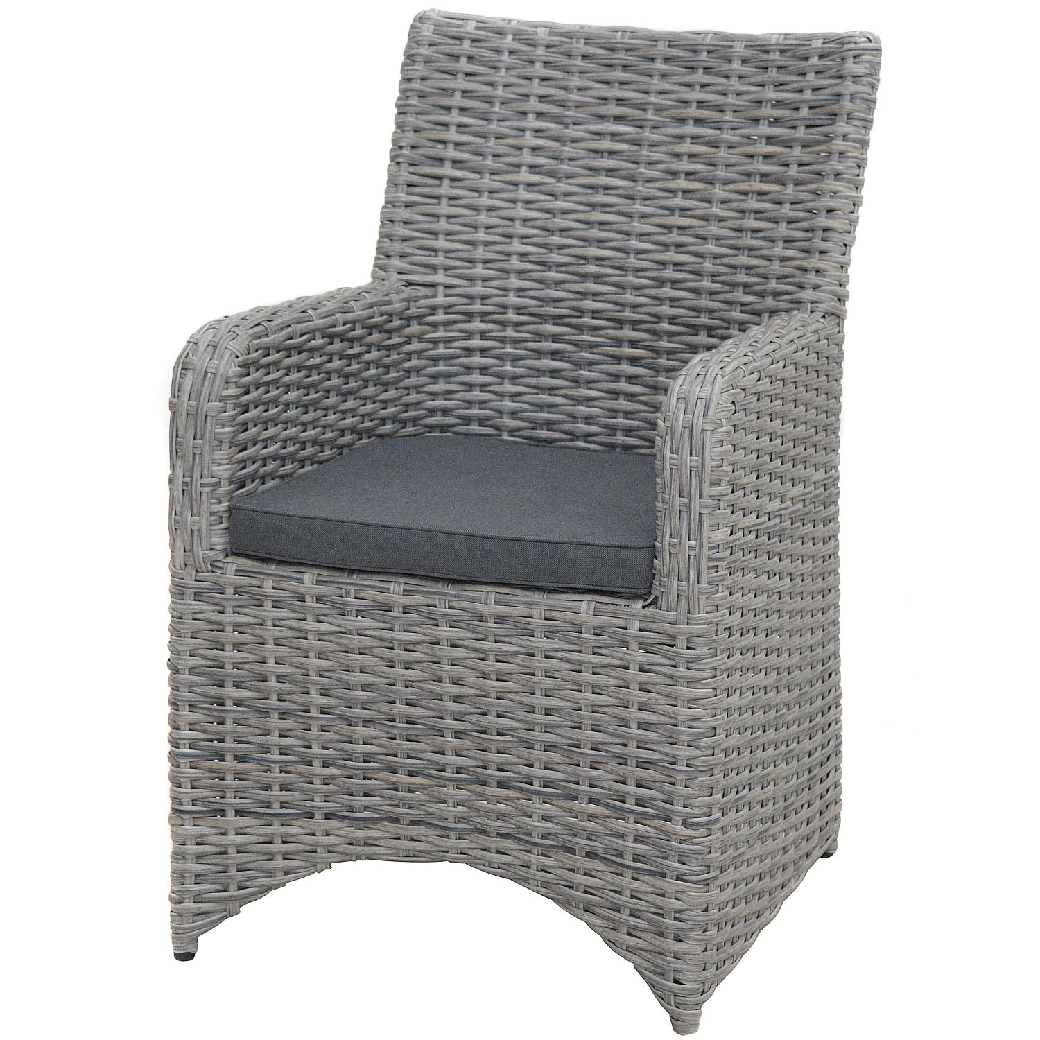 Home 24 - Fauteuil lounge nevis - polyrotin - anthracite, ploß