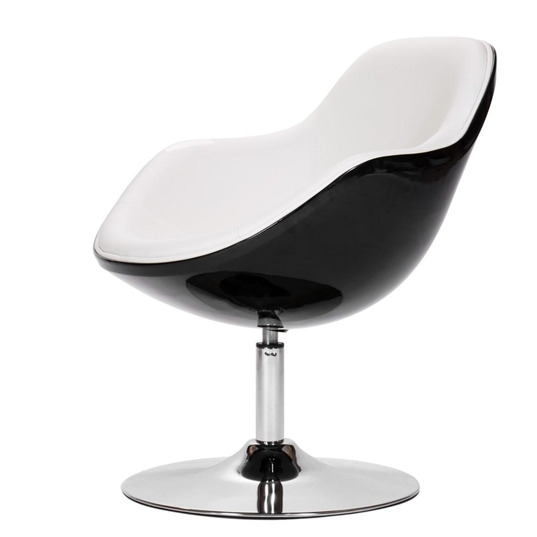 Lounge sessel schwarz weiß  Sessel Cartago - Kunstleder - Kunstleder Veli Weiß-Schwarz II jetzt ...