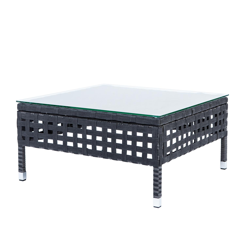 couchtisch kylo glas polyrattan grau anthrazit beistelltisch couch tisch ebay. Black Bedroom Furniture Sets. Home Design Ideas