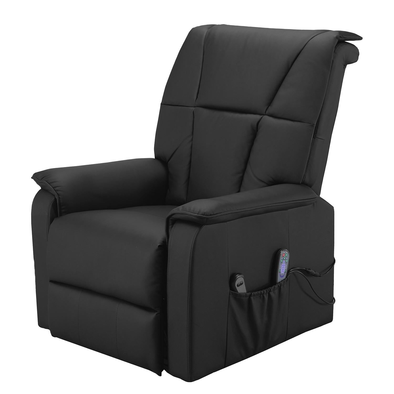 Fauteuil de relaxation Cubillo - Cuir véritable - Noir, Nuovoform