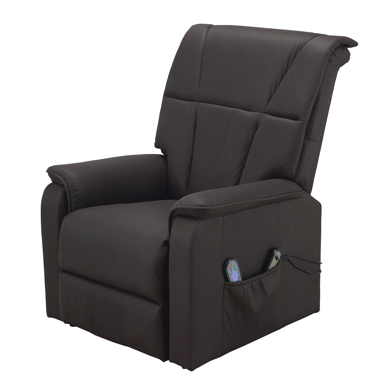 Fauteuil de relaxation Cubillo - Microfibre - Noir, Nuovoform