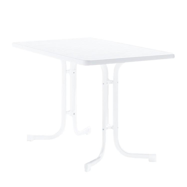 Klapptisch Houma II - Marmordekor/Weiß - 115 x 72 x 70 cm, Sieger