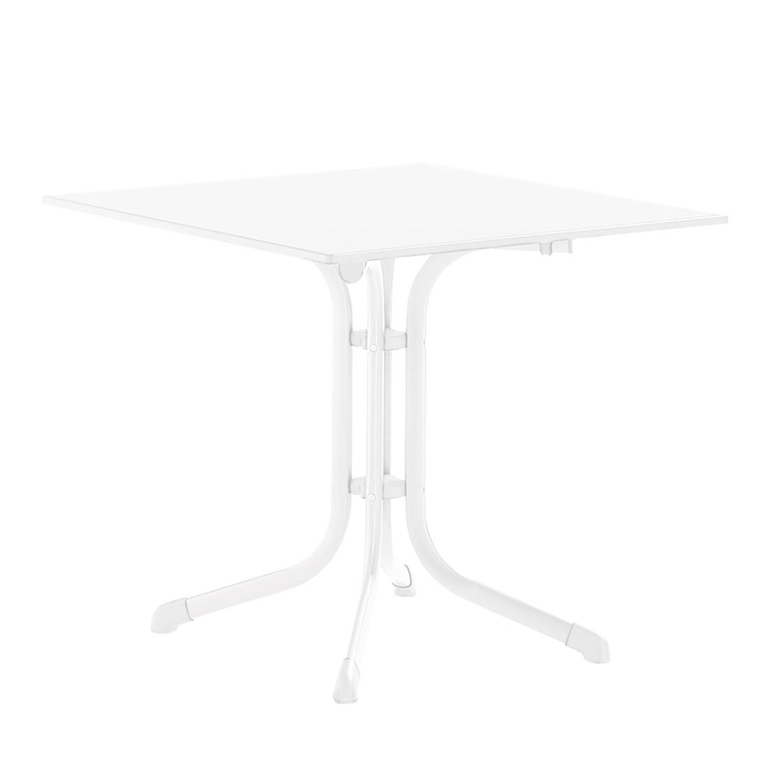 Klapptisch Houma II - Marmordekor/Weiß - 70 x 72 x 70 cm, Sieger