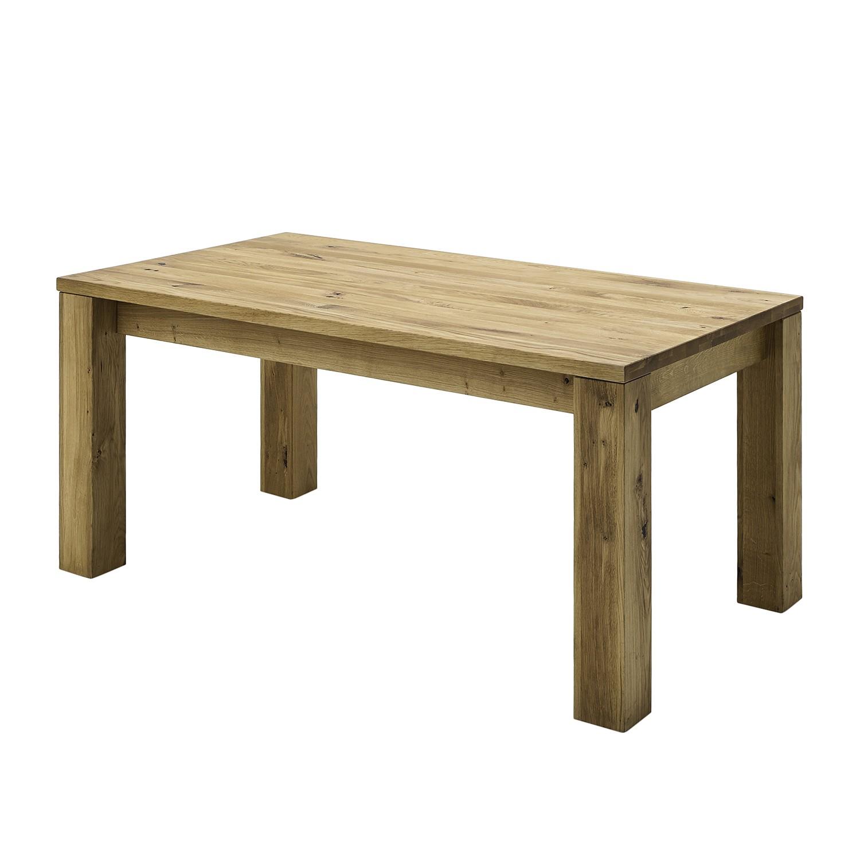 Table rectangulaire chene massif avec rallonge - Table en chene massif avec rallonges ...