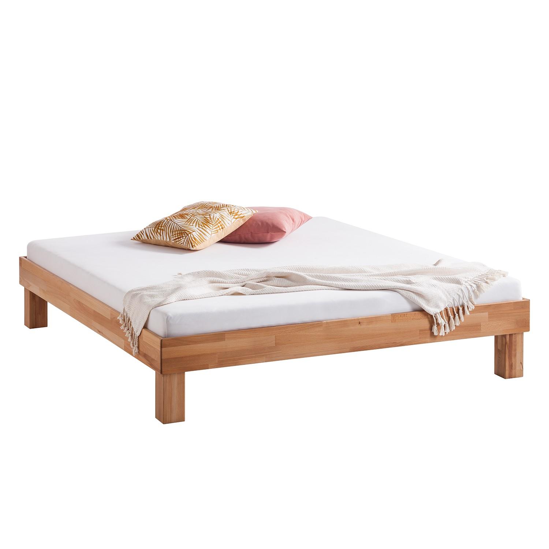 Massief houten bed AresWOOD - 140 x 200cm - Zonder hoofdeinde - Kernbeukenhout, Ars Natura