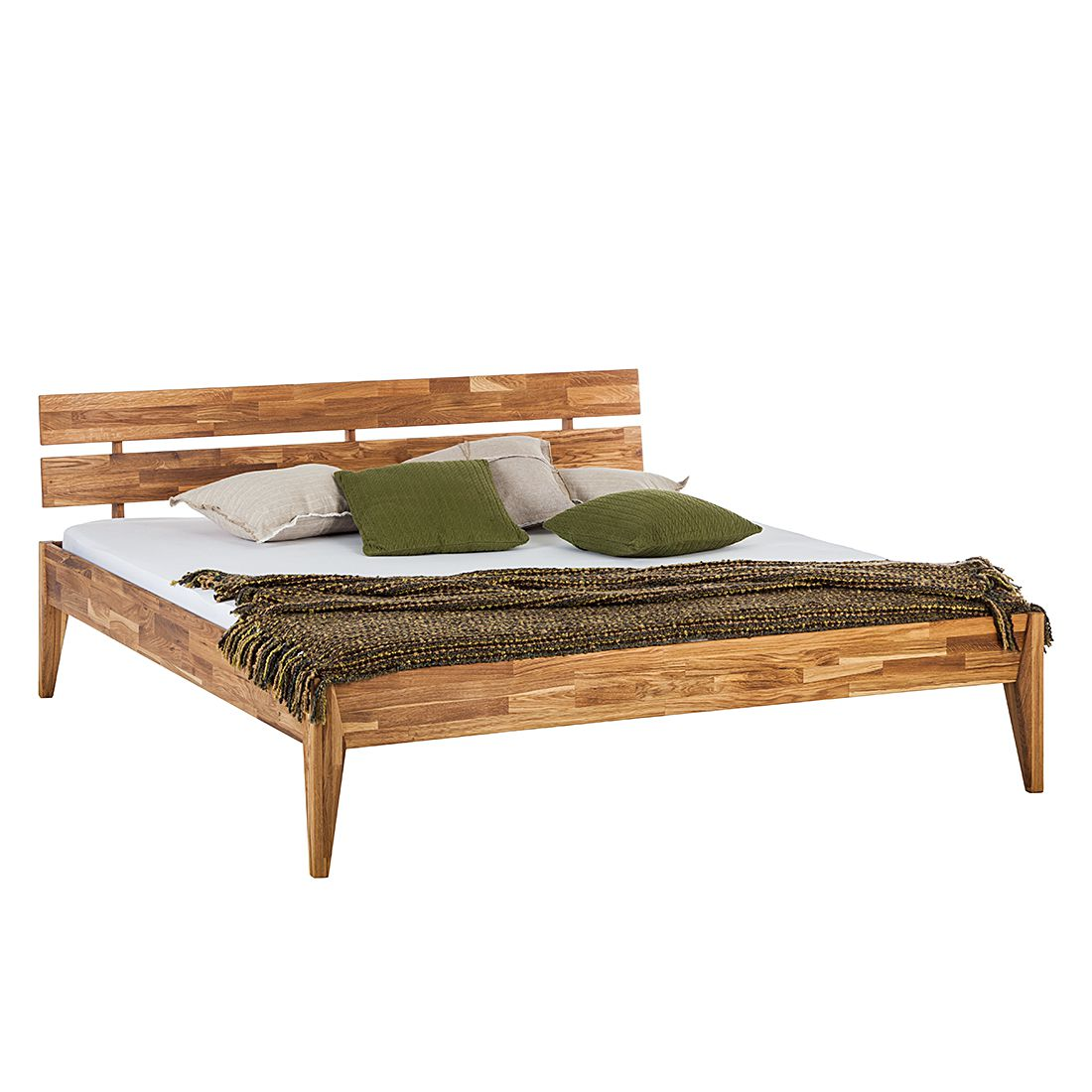 Lit en bois massif JillWOOD - 180 x 200cm - Chêne, Ars Natura