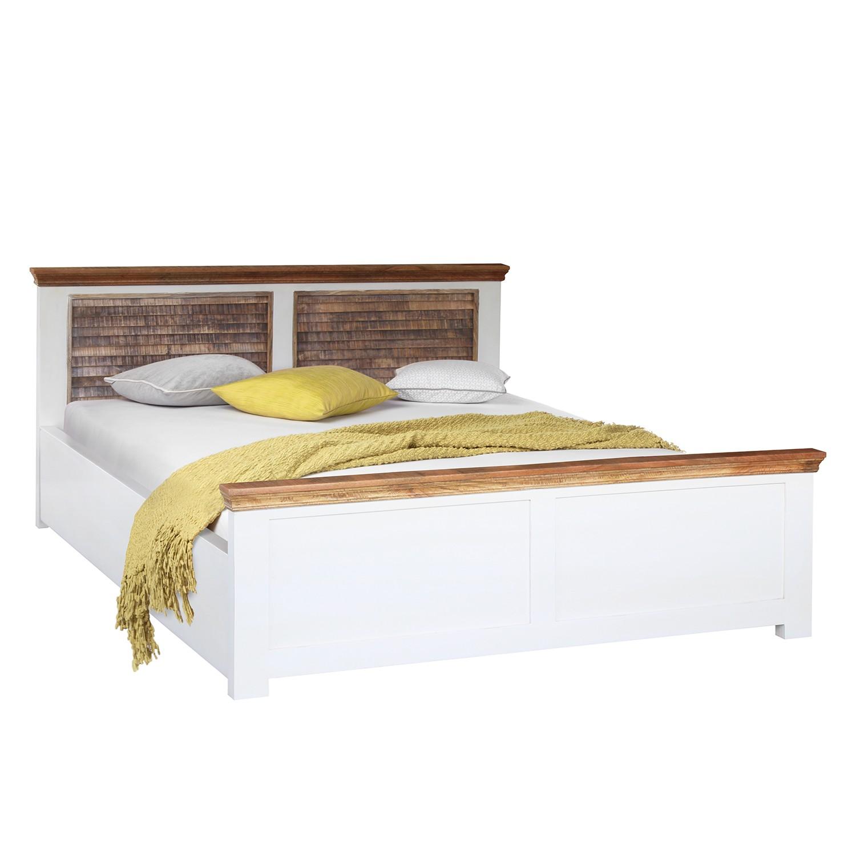 lit en bois massif newhaven manguier massif manguier blanc manguier marron maison belfort. Black Bedroom Furniture Sets. Home Design Ideas