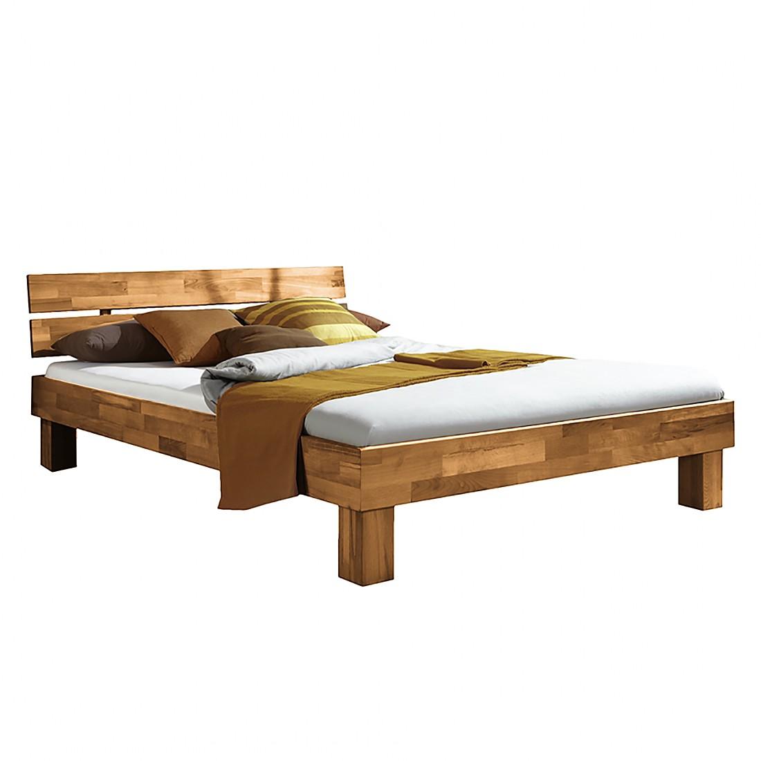 Massief houten bed SonaWOOD - geolied massief wild eikenhout - 140 x 200cm, Ars Natura