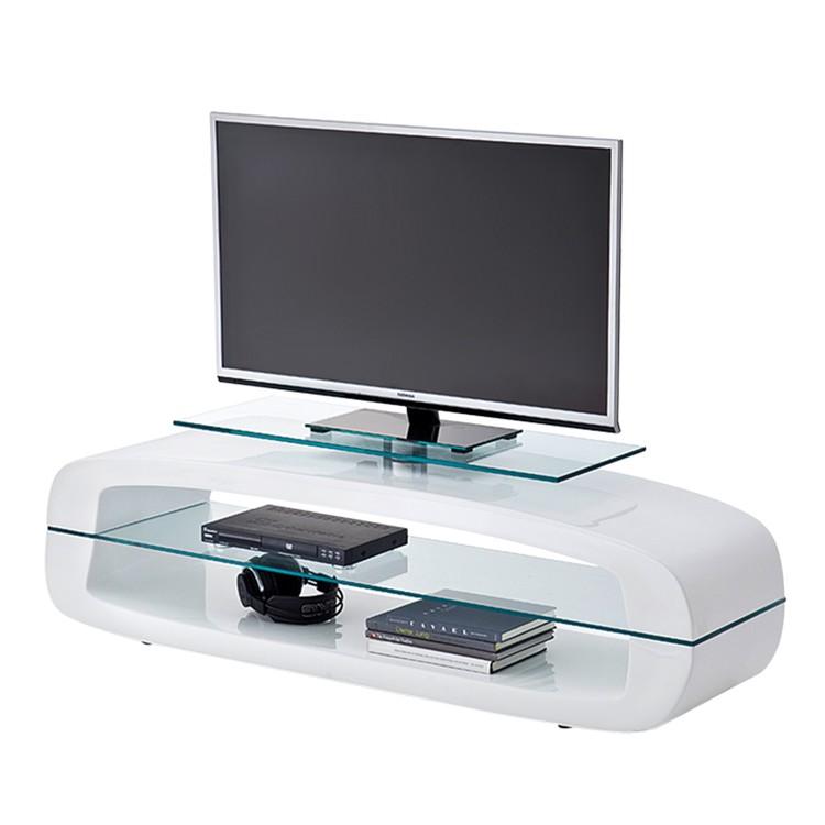 Meuble TV MacLeod - Blanc brillant, loftscape