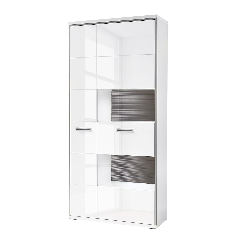 vitrinenschrank kushiro hochglanz wei grau modoform jetzt bestellen. Black Bedroom Furniture Sets. Home Design Ideas