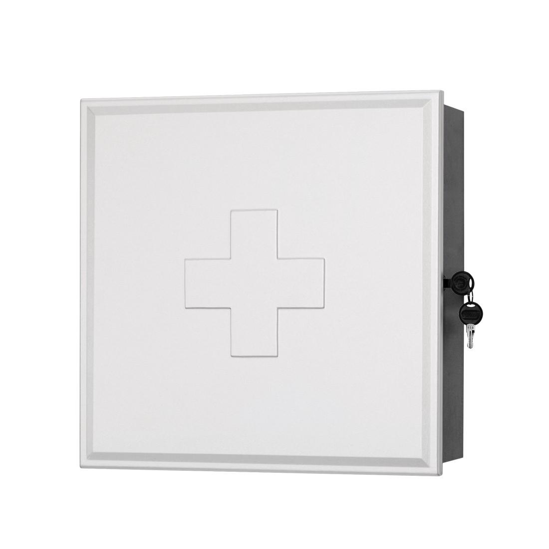 Medicijnkast Medibox   wit zilverkleurig_ Sieper