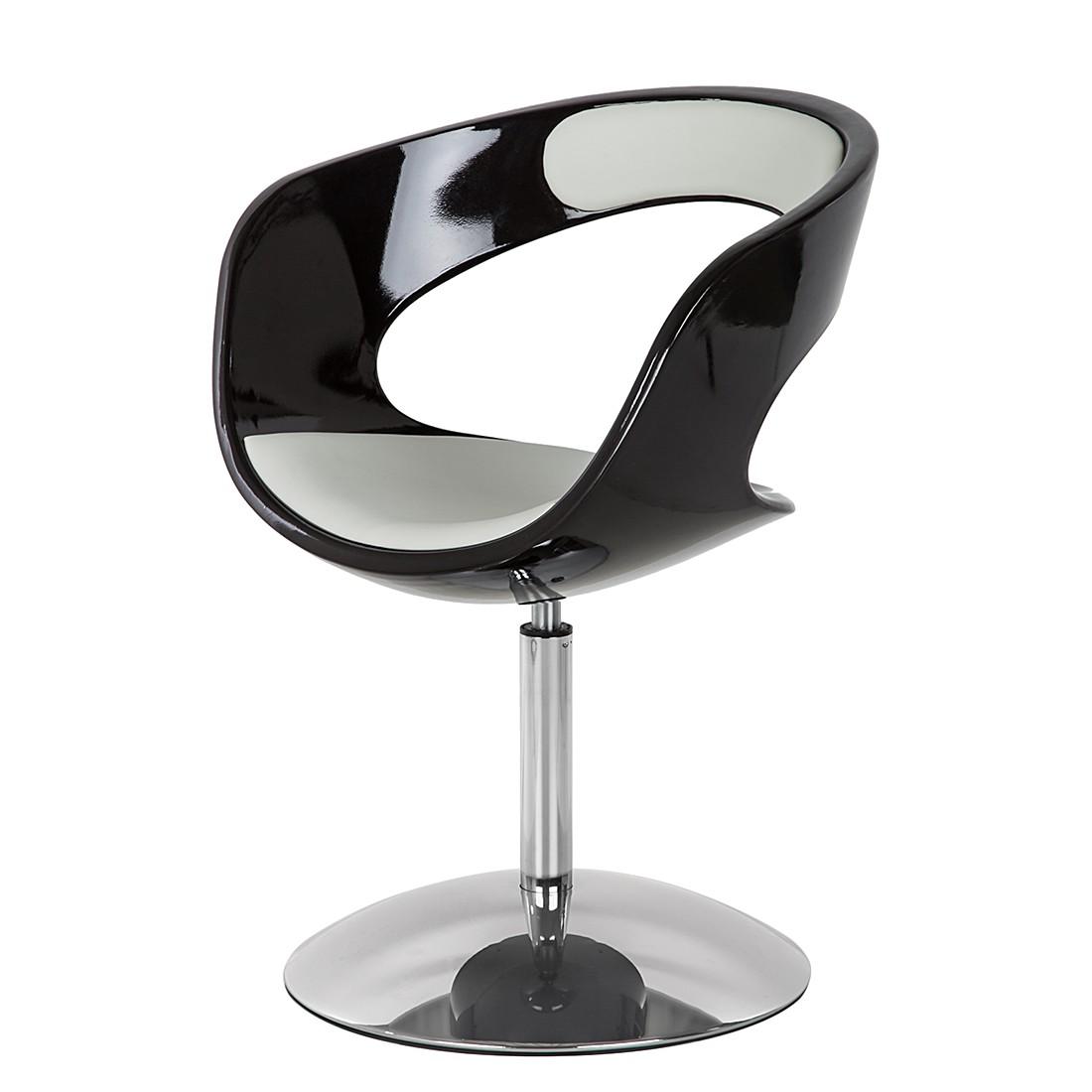 Fauteuil pivotant Merida - Noir / Blanc, loftscape