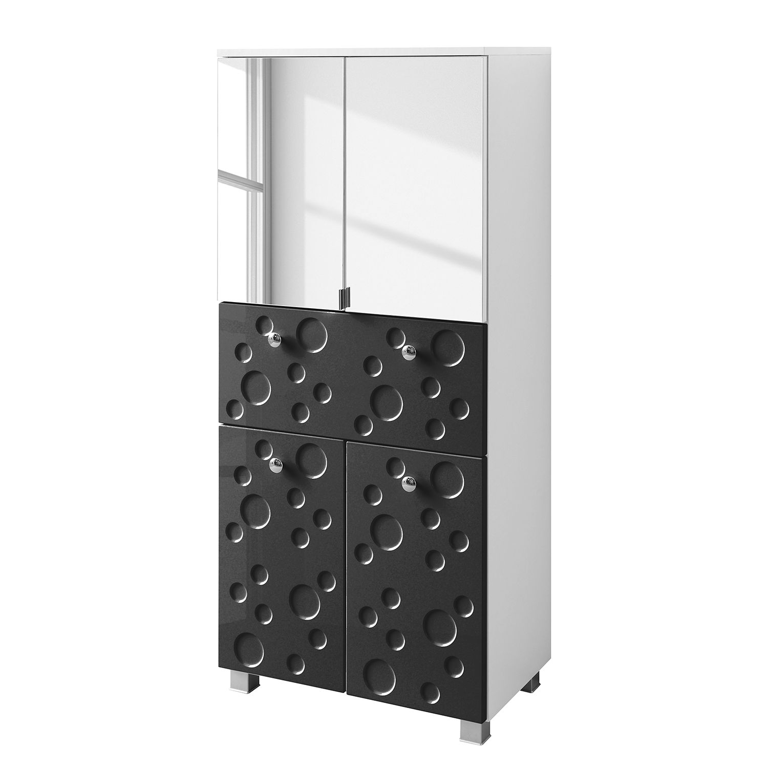 Armoire colonne Bubble II - Anthracite brillant - 60 cm, Giessbach