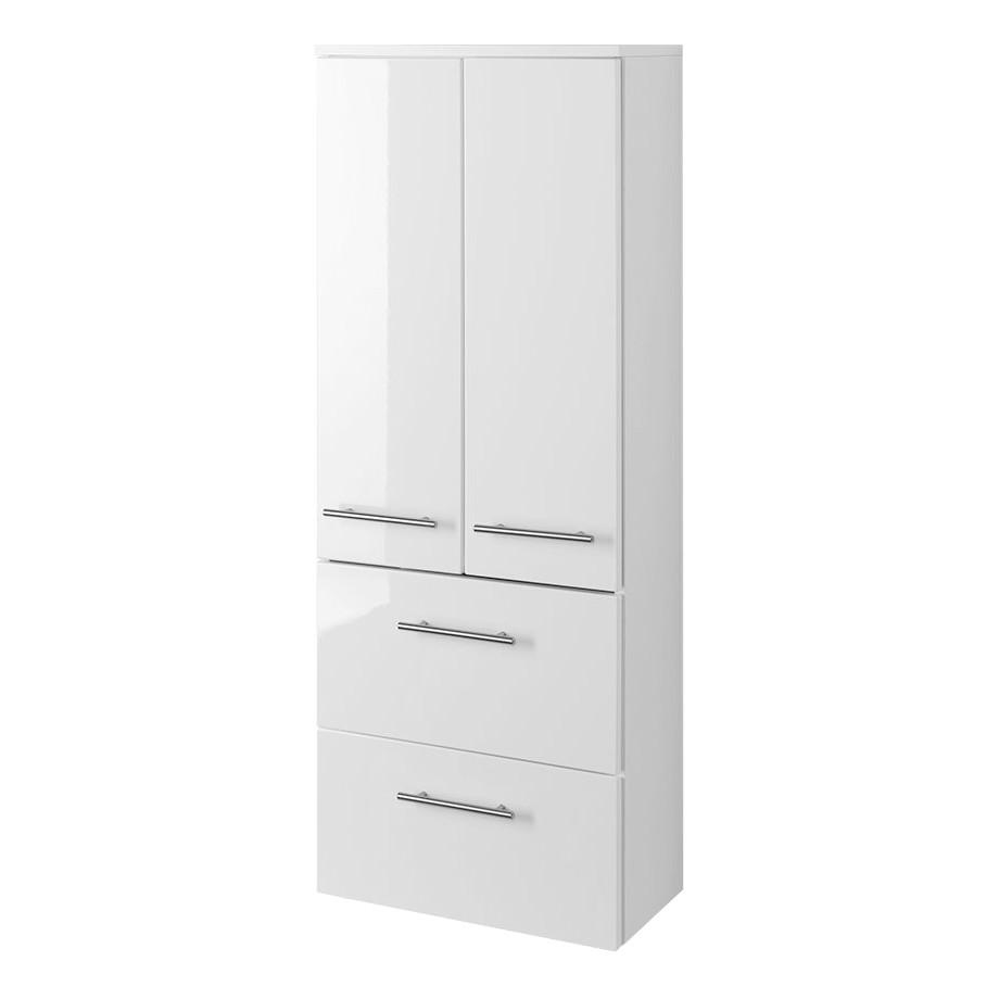 Armadietto da bagno Kopenhagen - Bianco lucido/Bianco - 50 cm, mooved