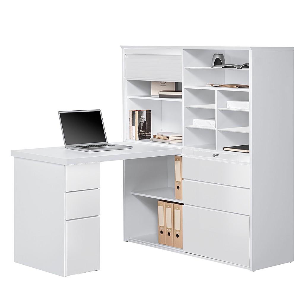 Mini kantoor Jale - wit/hoogglans wit, Maja Möbel