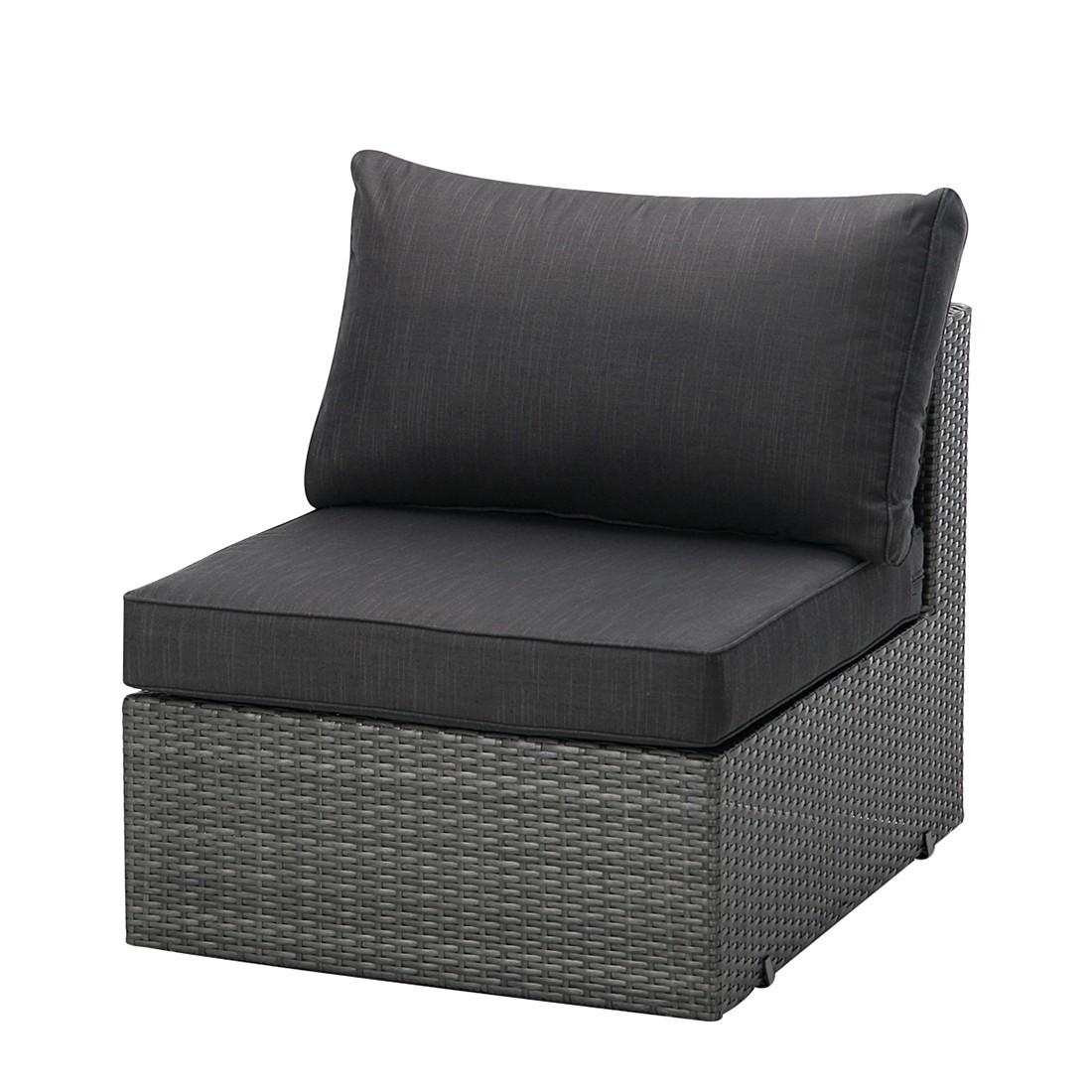 Mittelelement Lounge Aruba (inkl. Sitz- und Rückenpolster) - Aluminium/Kunstfaser-Flachgewebe - Anthrazit/Anthrazit, Best Freizeitmöbel