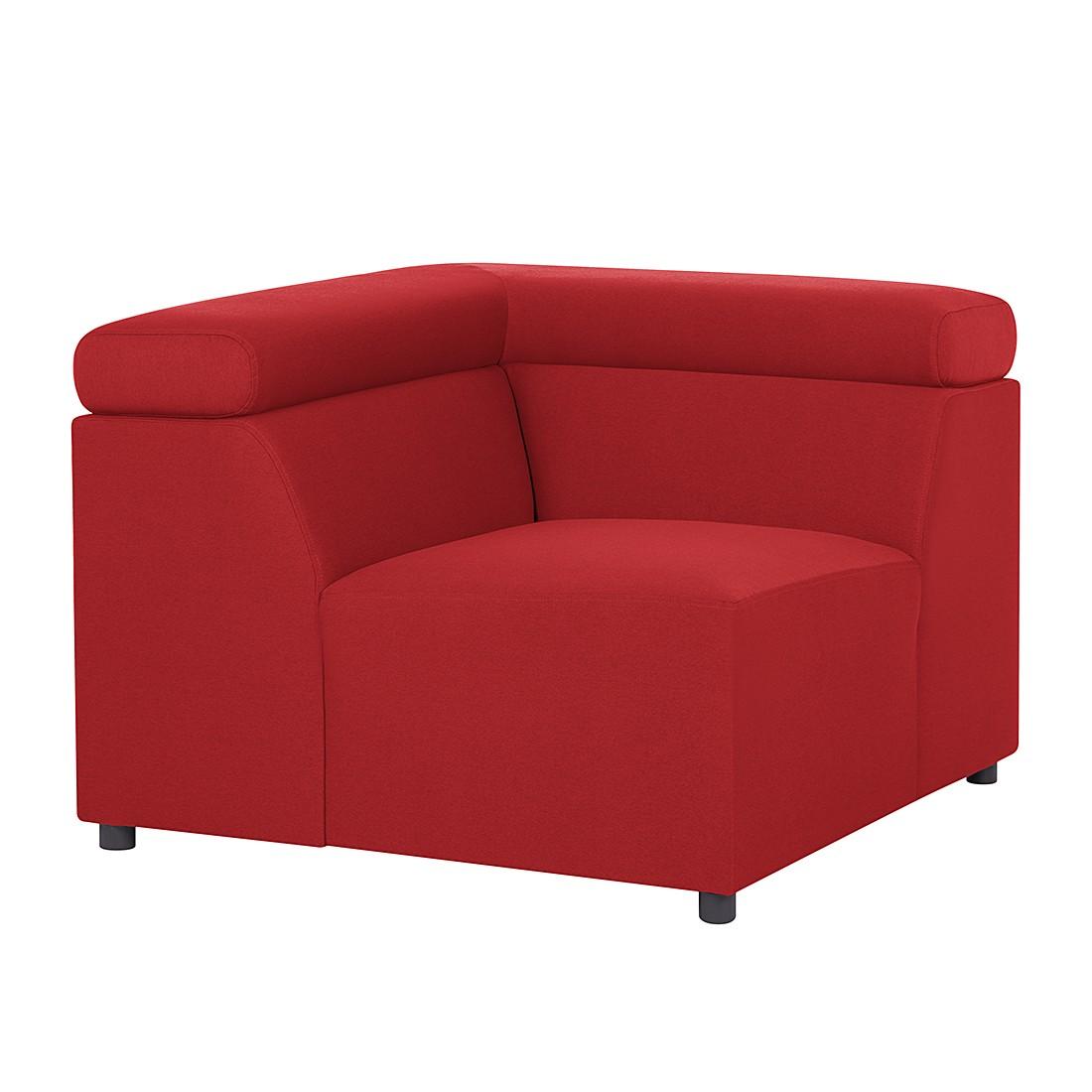 Canapé modulaire Hillier - Tissu - Rouge, Fredriks