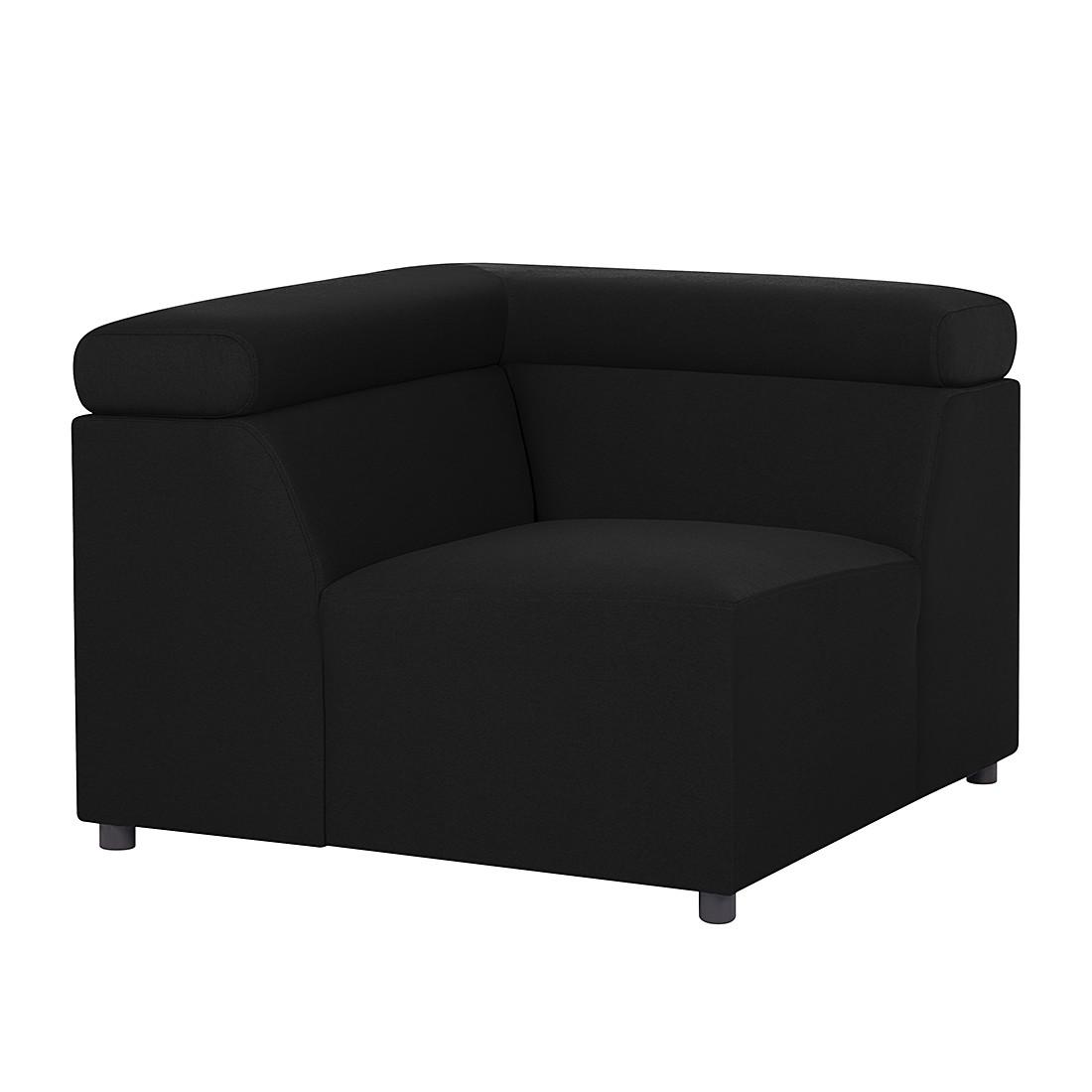 Canapé modulaire Hillier - Tissu - Noir, Fredriks