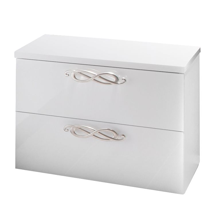 Commode de chevet Ambrosia - Blanc brillant, Lc Mobili