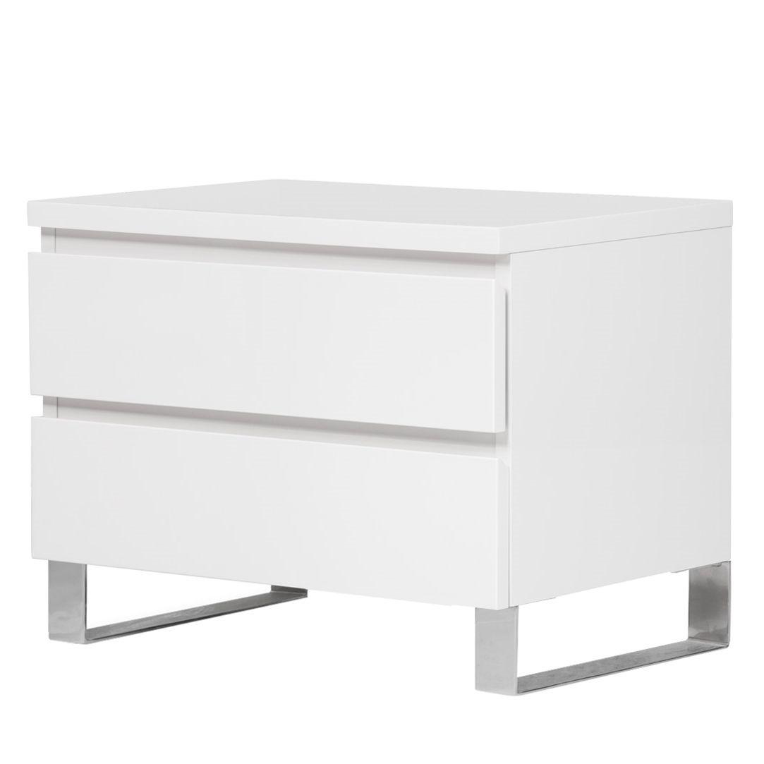Nachtkommode Bianco I - Hochglanz Weiß
